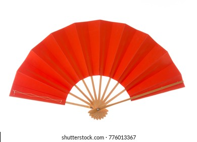Folding fans isolated with white background