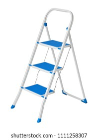 folding ladder isolated on white background