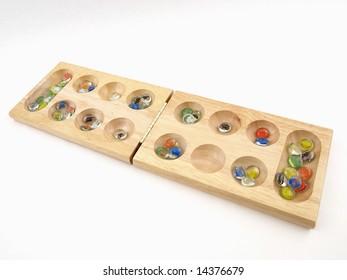 Folding Mancala Board Game