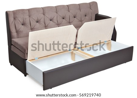 Folding Sofa Bed Couch Storage Space Stock Photo Edit Now