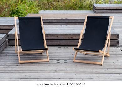 Folding Wooden Deckchair