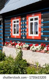 arquitectura folclórica en Zdar bajo Belianske Tatras, Eslovaquia