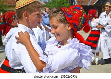 Folk dance from Viseu de Sus, Romania. Date of photography: 25 September 2012