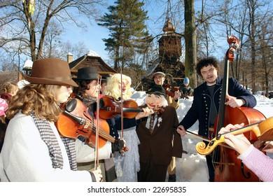 folk musicians by carnival