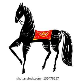 folk russian painting horse