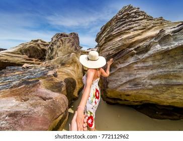 Follow me through the rocks of Krabi island, Thailand