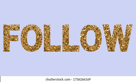 Follow social media text instagram blog glitter text