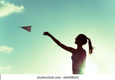 Follow your dreams, life goals, and taking flight concept.