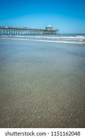 folly beach charleston south carolina on atlantic ocean