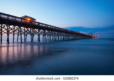 The Folly Beach Pier at Dawn - Charleston, South Carolina