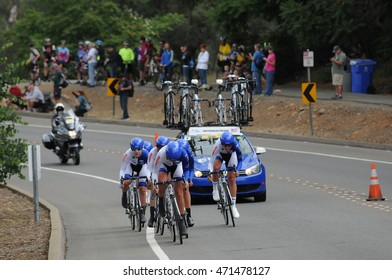 FOLSOM, CA - MAY 20:  The UnitedHealthCare Professional Cycling Team competes at the 2016 Amgen Tour of California Womens Team Time Trial on May 20, 2016 in Folsom, CA.