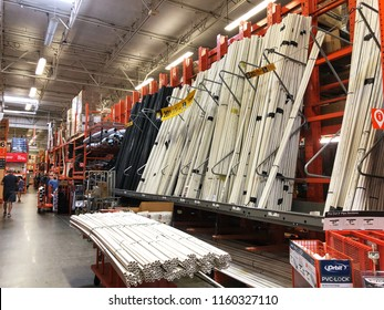 FOLSOM, CA, USA - AUG 18, 2018: The Home Depot Store interior shopping aisles of plumbing