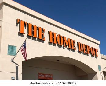 FOLSOM, CA, USA - JUN, 2, 2018: Home Depot Store Front main entrance