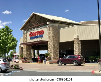 FOLSOM, CA USA - MAY 12, 2017: Storefront of Costco wholesale business warehouse