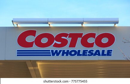 FOLSOM, CA, USA - SEP 15, 2017: Costco Wholesale warehouse  logo, outside sign. Business Brand on store front wall.