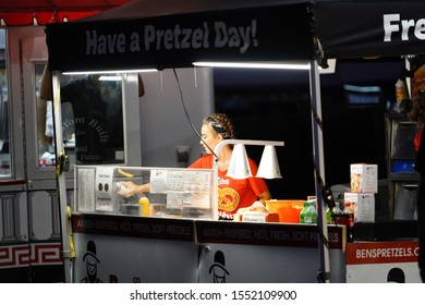Fond du Lac, Wisconsin / USA - July 21st, 2019: Many different Concession stands being used to feed the visitors at Fond du Lac County Fair