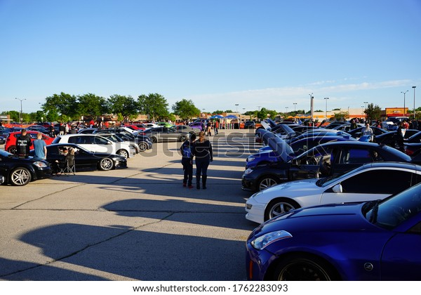Fond du Lac, Wisconsin / USA - June 14th, 2020: Fond du Lac county car clubs held their annual exotic, modified, and custom car and truck meet up show at forest mall parking lot in Fond du Lac.