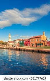 Fondamenta di Santa Caterina, Isola Mazzorbo, Venice -  colourful houses from the canal