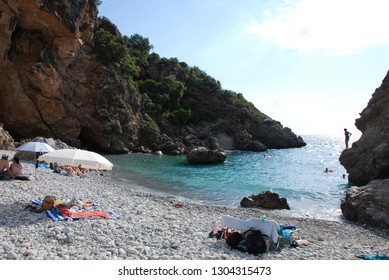 Foneas beach at Mani region at the Peloponnese in Greece. Summer 2016