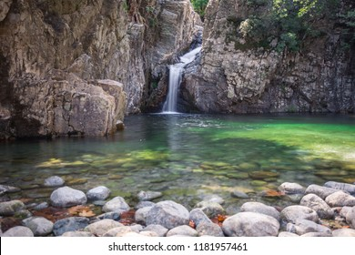 Fonias Waterfall in Samothrace island, Greece