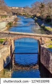 Fonserannes Locks (French: écluses de Fonserannes, les neuf écluses) are a flight of staircase locks on the Canal du Midi near Béziers, Languedoc Roussillon, France. It is a UNESCO World Heritage site
