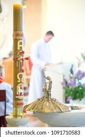 font in catholic church