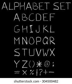 Font freehand alphabet pencil sketch.