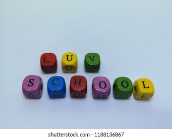 font qube with back to school verb with white background