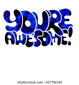 you re awesome images stock photos vectors shutterstock rh shutterstock com you are so awesome clipart you're awesome clipart