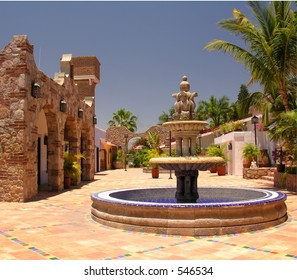 Fontain and architecture in Cabo San Lucas / Mexico