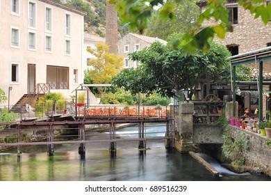 Fontaine de vaucluse in the Provence-Alpes-Côte d'Azur region