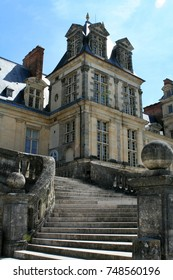FONTAINEBLEAU, FRANCE - April 28, 2010: The Palace of Fontainebleau (Chateau de Fontainebleau)