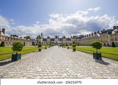 Fontainebleau (Seine-et-Marne, Ile-de-France, France) - A court of the ancient castle
