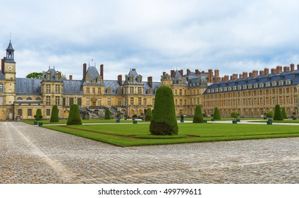 FONTAINEBLEAU,FRANCE-JUNE 2016:View on the palace