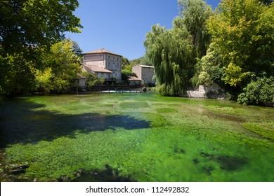 Fontaine-de-Vaucluse, Vaucluse, Provence, France