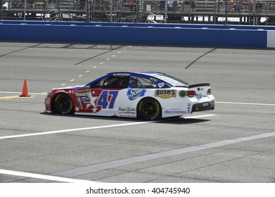 FONTANA, CA - MARCH 20:  AJ Allmendinger races for JTG Daugherty Racing in the NASCAR Autoclub 400 Sprint Cup Series on March 20, 2016 in Fontana, California.