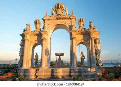 Fontana del Gigante or Fountain of the Giant, monumental fountain in Naples, Italy
