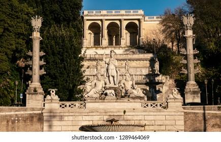 Fontana della Dea Roma, Piazza del Campidoglio, Roma, Itália