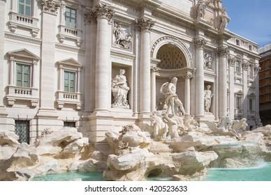 Fontana di Trevi in Rome, Italy
