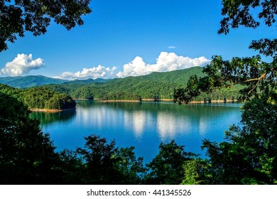 Fontana Lake at Spring Appalachian Trail, Appalachian Mountains, North Carolina