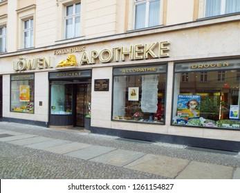 Fontane's birthplace in Neuruppin: lion pharmacy, Germany 13.04.2016