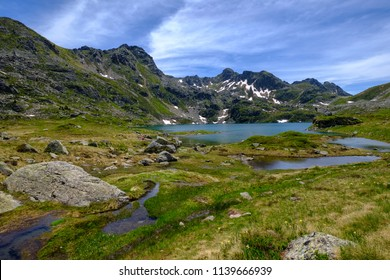 Fontargente mountain lakes in the french pyrenees near Aston in Ariege