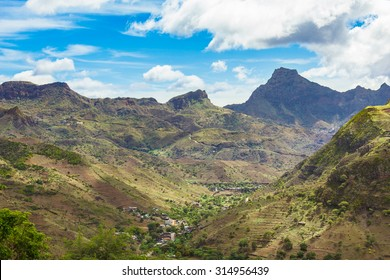Fonte Lima mountains in Santiago Island Cape Verde - Cabo Verde