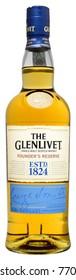 FONTE, VENICE, ITALY - DECEMBER 2017. Bottle of Scotch Whisky The Glenlivet Founder's Reserve 70cl, 40%Vol.