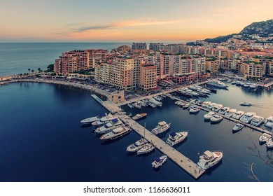 Fontvieille district in the principality of Monaco