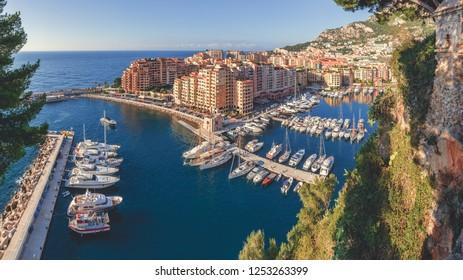 Fontvieille Harbour of Monaco