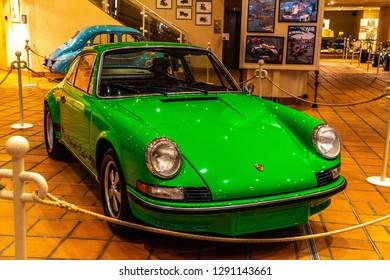 FONTVIEILLE, MONACO - JUN 2017: green PORSCHE 911 CLASSIC 1963 in Monaco Top Cars Collection Museum.