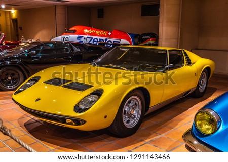 Fontvieille Monaco Jun 2017 Yellow Lamborghini Stock Photo Edit Now