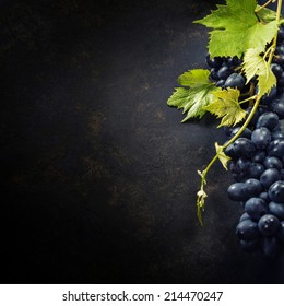 Food background with Fresh Grapes.  Lots of copy space.