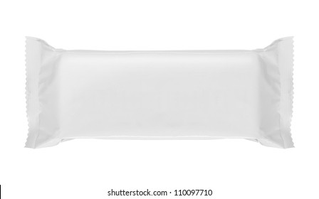 food blank package isolated over white background